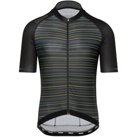 Bioracer Sprinter SS Jersey Cold Black Light Subli Men, kingpin yellow